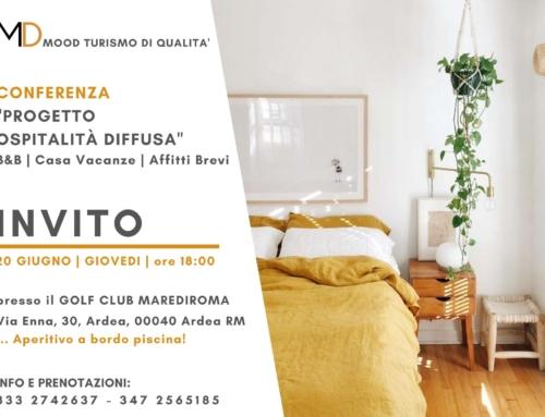"""Conferenza """"Progetto Ospitalità Diffusa"""" settore extralberghiero"""